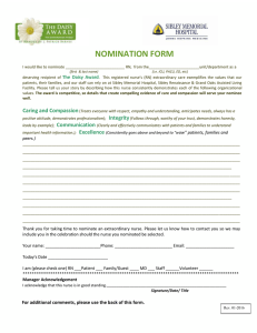 NOMINATION FORM  DUE