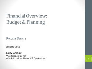 Financial Overview: Budget & Planning F S