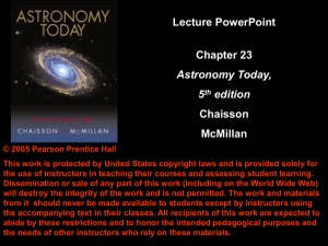 Lecture PowerPoint Chapter 23 Chaisson McMillan