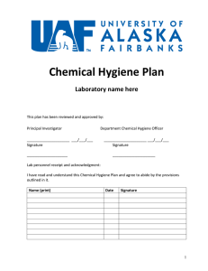 Chemical Hygiene Plan Laboratory name here