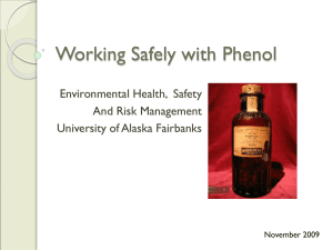 Working Safely with Phenol Environmental Health,  Safety And Risk Management