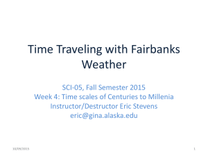 Time Traveling with Fairbanks Weather