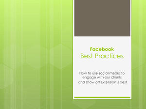 Best Practices Facebook How to use social media to engage with our clients
