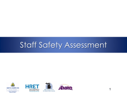 Staff Safety Assessment 1