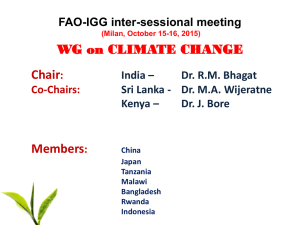 Chair Members WG on CLIMATE CHANGE FAO-IGG inter-sessional meeting
