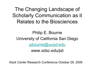The Changing Landscape of Scholarly Communication as it Relates to the Biosciences