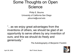 Some Thoughts on Open Science