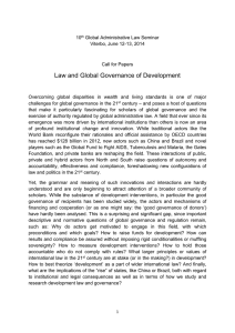 Law and Global Governance of Development