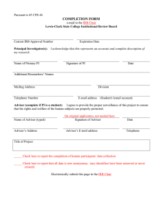 COMPLETION FORM