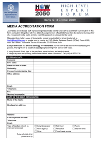 MEDIA ACCREDITATION FORM