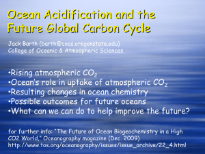 Ocean Acidification and the Future Global Carbon Cycle