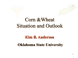 Corn &Wheat Situation and Outlook Oklahoma State University Kim B. Anderson