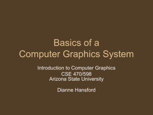 Basics of a Computer Graphics System Introduction to Computer Graphics CSE 470/598