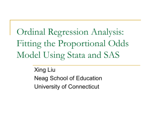 Ordinal Regression Analysis: Fitting the Proportional Odds Model Using Stata and SAS