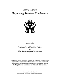 Beginning Teacher Conference  Second Annual