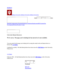 SEARCH Indiana University Indiana University Indiana University BenefitsCompensation ProgramsEmpl DevelopmentPoliciesW