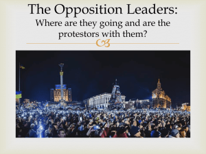  The Opposition Leaders: Where are they going and are the