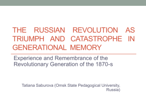 THE RUSSIAN REVOLUTION AS
