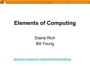 Elements of Computing Elaine Rich Bill Young
