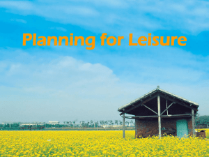 Planning for Leisure