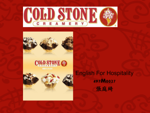 English For Hospitality 張庭綺 497M0027