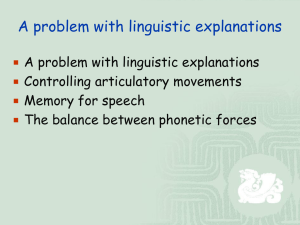 A problem with linguistic explanations