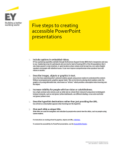 Five steps to creating accessible PowerPoint presentations