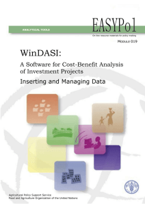 WinDASI:  A Software for Cost-Benefit Analysis of Investment Projects