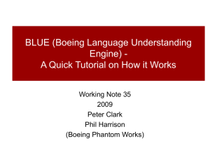 BLUE (Boeing Language Understanding Engine) - Working Note 35