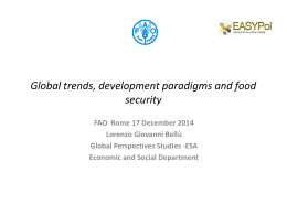 Global trends, development paradigms and food security