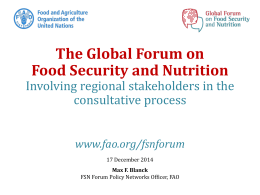 The Global Forum on Food Security and Nutrition consultative process