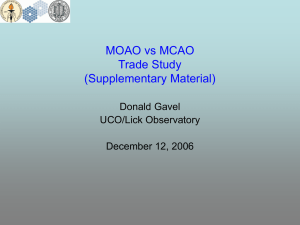 MOAO vs MCAO Trade Study (Supplementary Material) Donald Gavel
