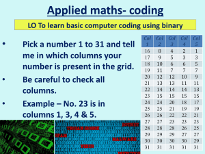 Applied maths- coding •