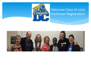 Welcome Class of 2020 Freshman Registration