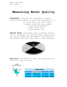 Measuring Water Quality Turbidity