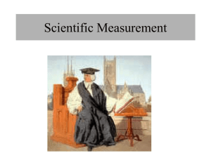 Scientific Measurement