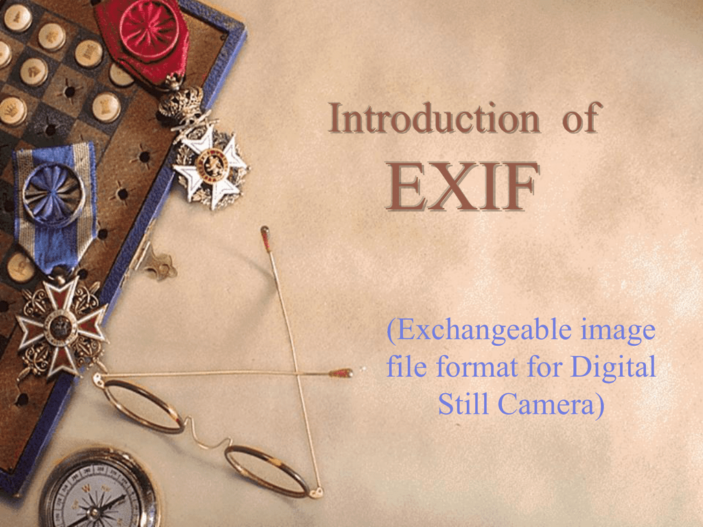 EXIF Introduction of Exchangeable image file