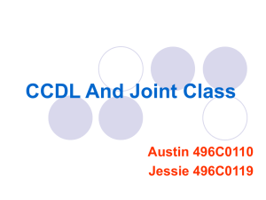 CCDL And Joint Class Austin 496C0110 Jessie 496C0119