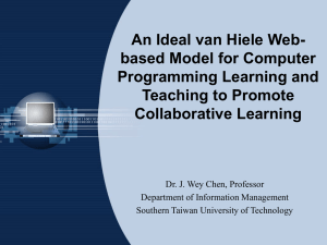 An Ideal van Hiele Web- based Model for Computer Programming Learning and