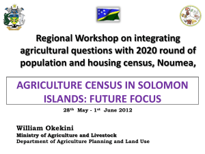 Regional Workshop on integrating agricultural questions with 2020 round of