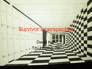 Survivor's perspective David Kan Tzu Hsiang, Tai