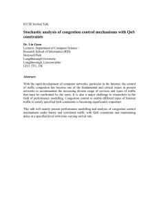Stochastic analysis of congestion control mechanisms with QoS constraints