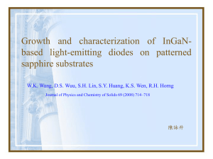 Growth and characterization of InGaN- based light-emitting diodes on patterned sapphire substrates 陳詠升