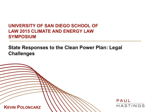 State Responses to the Clean Power Plan: Legal Challenges