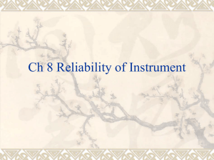 Ch 8 Reliability of Instrument