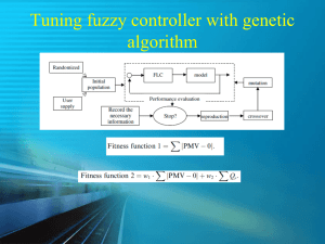 Tuning fuzzy controller with genetic algorithm