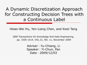 A Dynamic Discretization Approach for Constructing Decision Trees with a Continuous Label