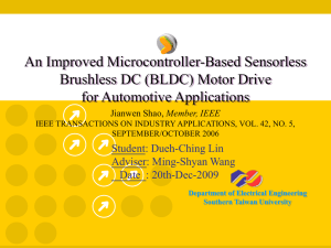 An Improved Microcontroller-Based Sensorless Brushless DC (BLDC) Motor Drive for Automotive Applications