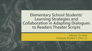 Elementary School Students' Learning Strategies and Collaboration in Adapting Dialogues