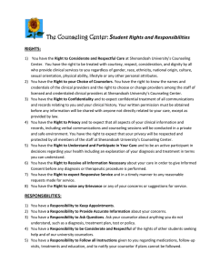 S The Counseling Center:  tudent Rights and Responsibilities